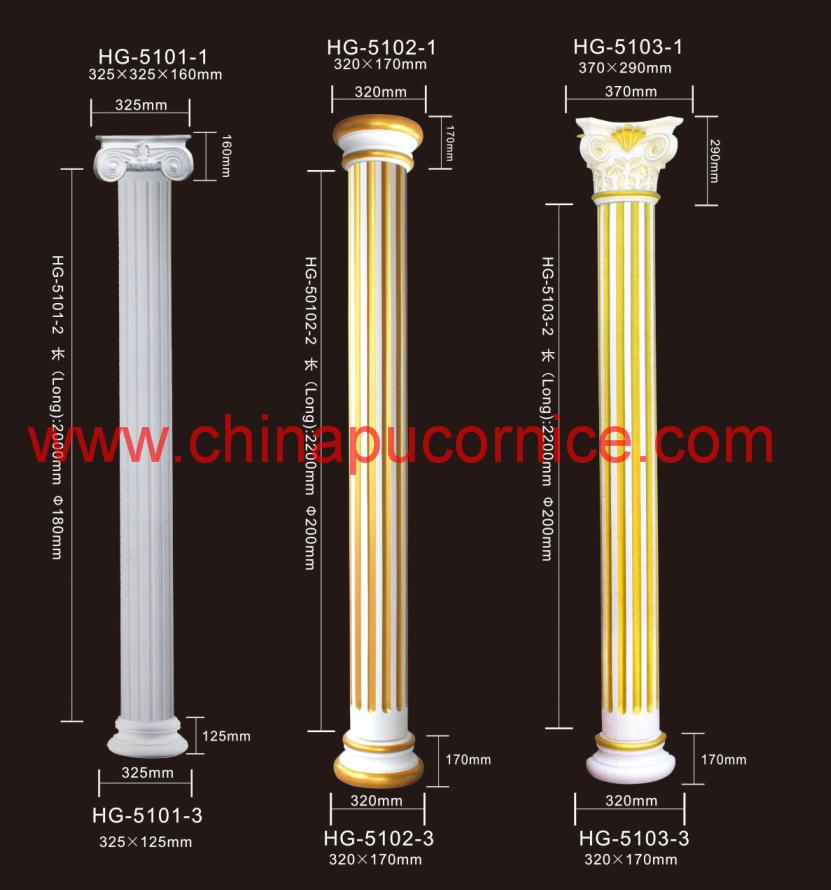 Decorative PU Roman Pillar for Hotel Guestroom Decor