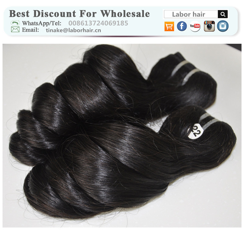Unprocessed Labor Hair Extension 105g (+/-2g) /Bundle Natural Brazilian Virgin Hair Loose Wave 100% Human Hair Weaves Grade 8A
