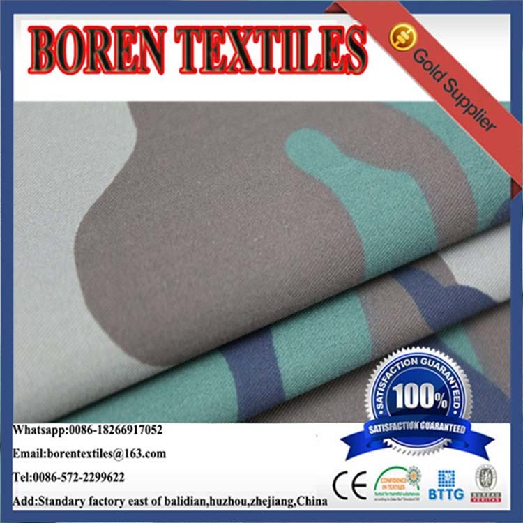 Factory Wholesale CVC Kahki Marine Camouflage Fabric