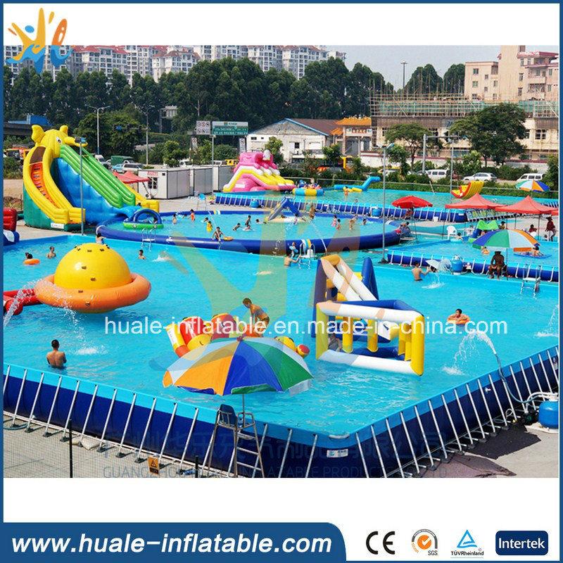 Amusement Park Water Games PVC Portable Metal Frame Swimming Pool