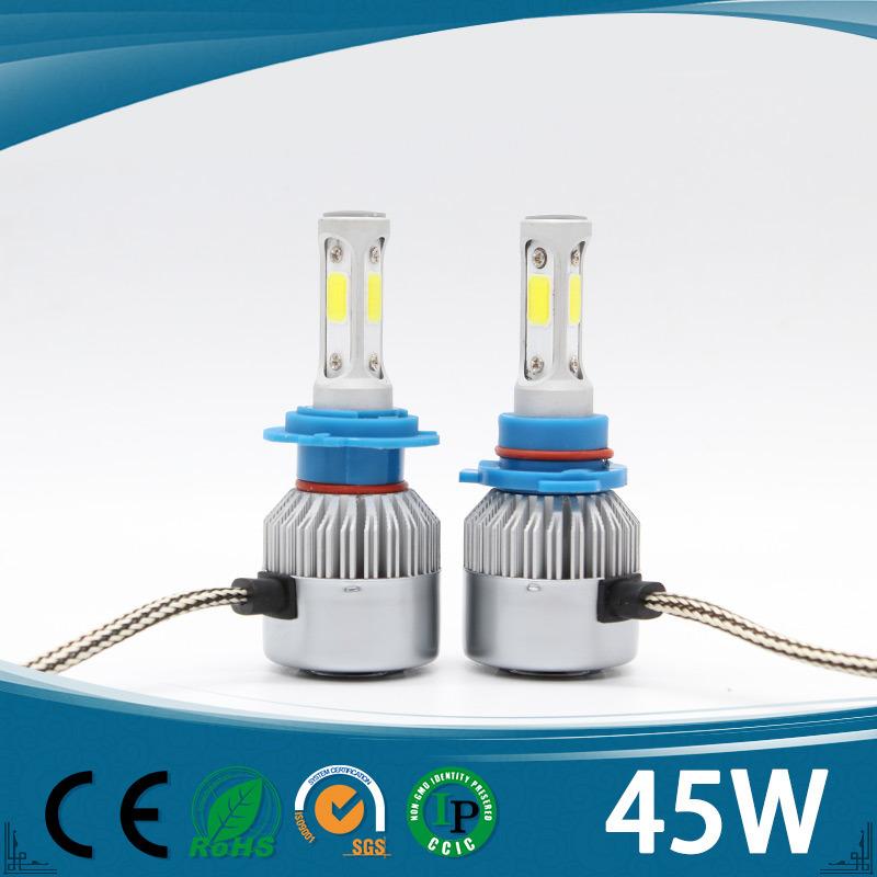 LED Headlight Conversion 45W ETI Crees H1, H3, H4, H7, H11, 9005, 9006 LED Headlight for Offroad Car