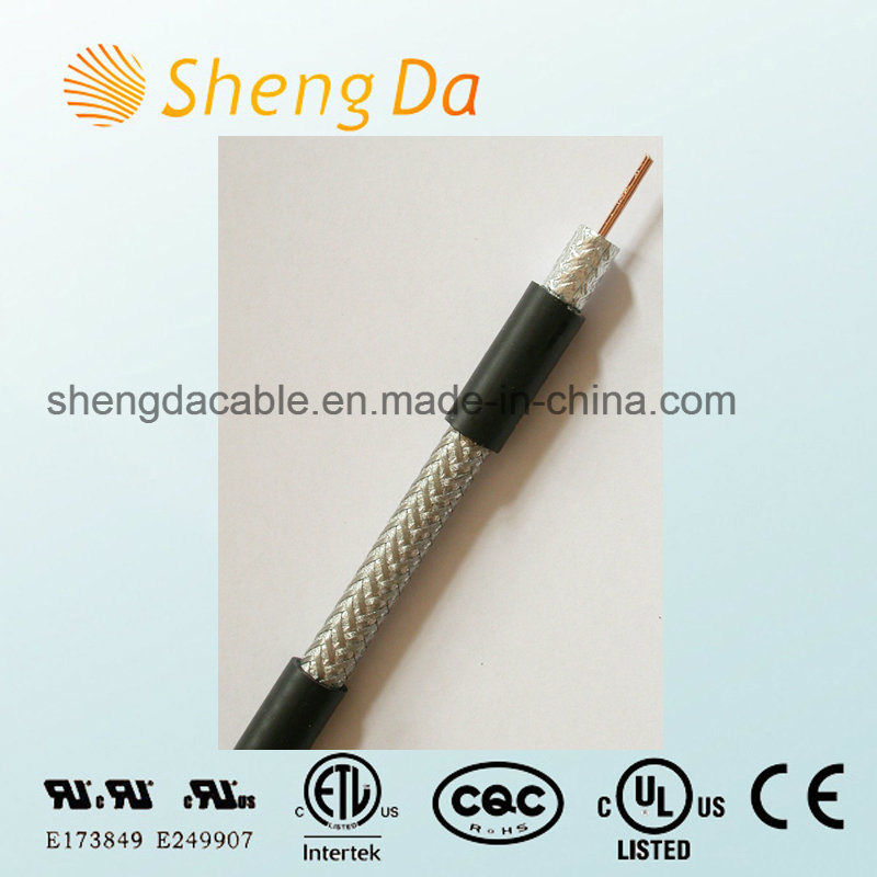 High Performance Digital and Analog Data Transmission Rg11 Standard Shield Coax Cable
