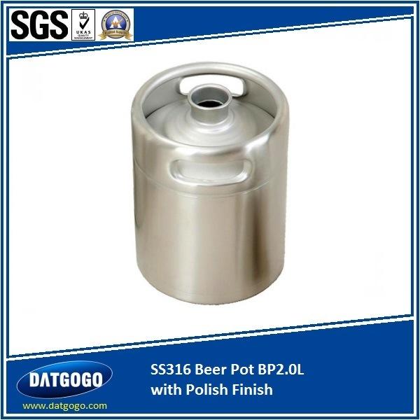 SUS316 Beer Pot & Barrel Bp2.0L with Polish Finish