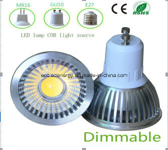 Ce and Rhos Dimmable GU10 3W COB LED Light