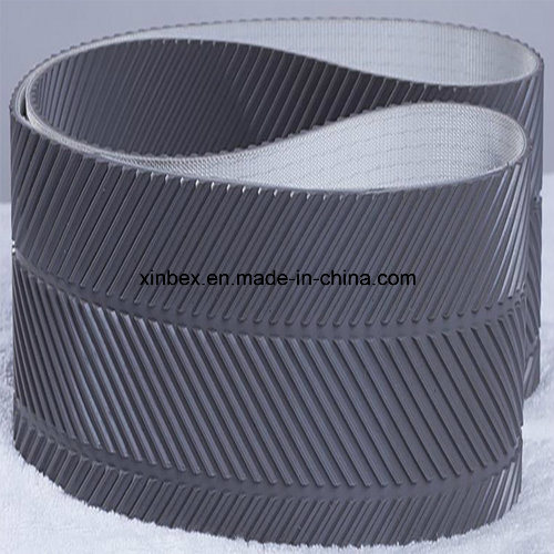 PVC Grey Fishbone Pattern Conveyor Belts for Wood Process