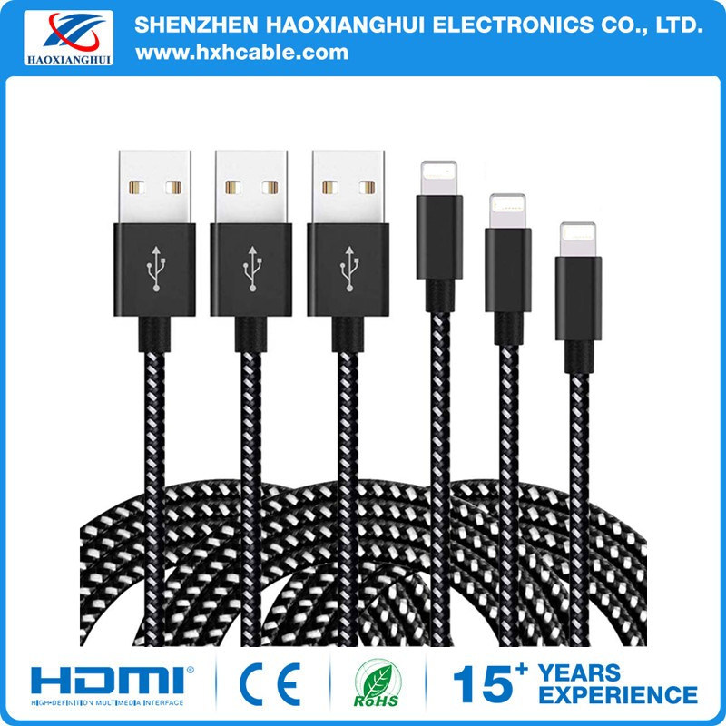 OEM Nylon Braided Mobile Phone Accessories for Lightning Cable