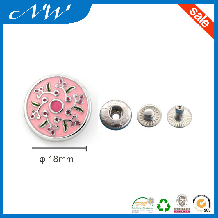 New Design Enamel Metal Snap Button with High Quality