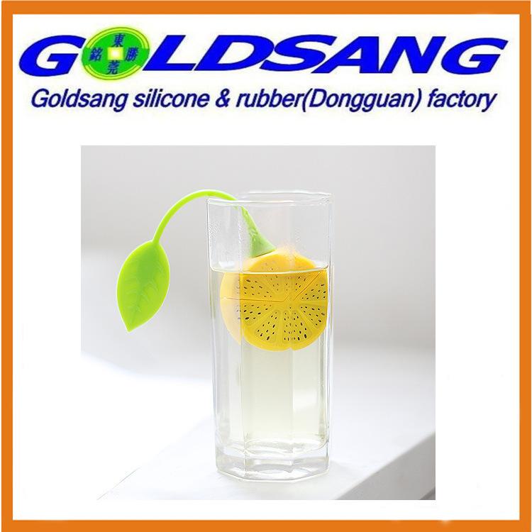 Eco-Friendly Lemon Shape Silicone Mini Tea Bag