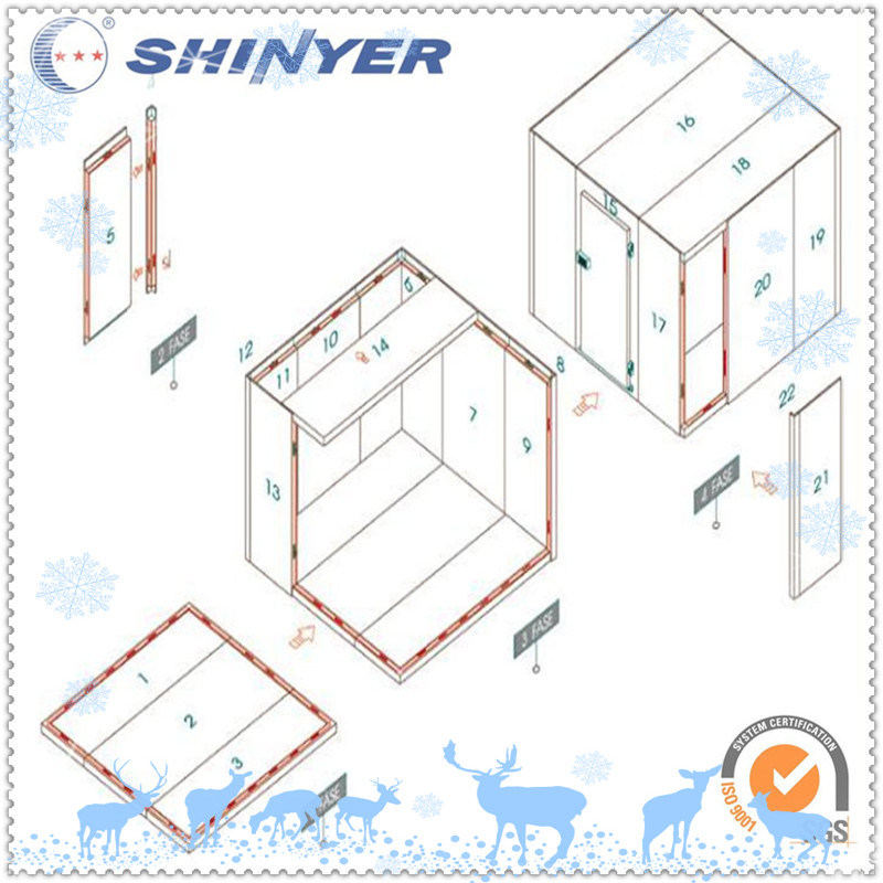 Prefabricated Cold Storage Room with Camlock Polyurethane Panels