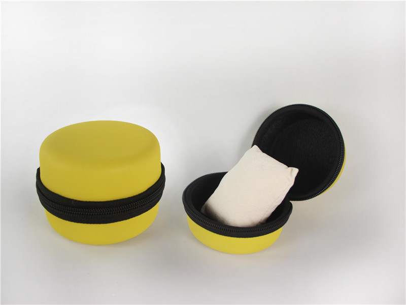 Leather PVC Watch Packaging Gift Round Box with Button, Zipper