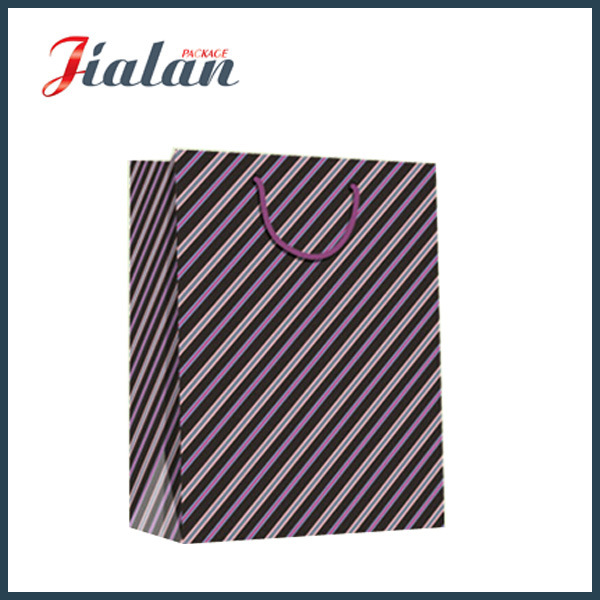 Every Day Series of Stripes Hand Shopping Gift Paper Bag