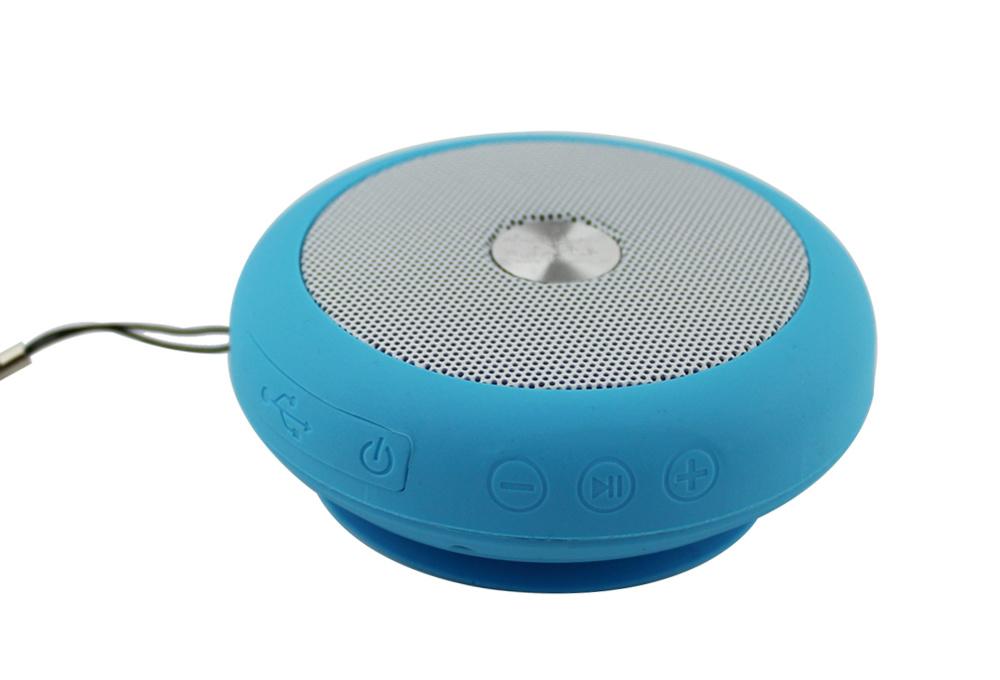Bluetooth 4.0 Stretch Mushroom Waterproof Speaker Flexable Bluetooth Bath Speaker with Kay Chain
