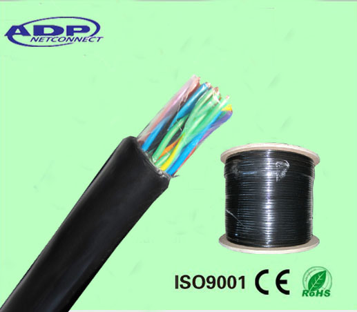Telecom 50 Pairs Underground Oil Filled (jelly filled) Armoured / Un-Armoured Cat3 Tele Cable Communication Cable