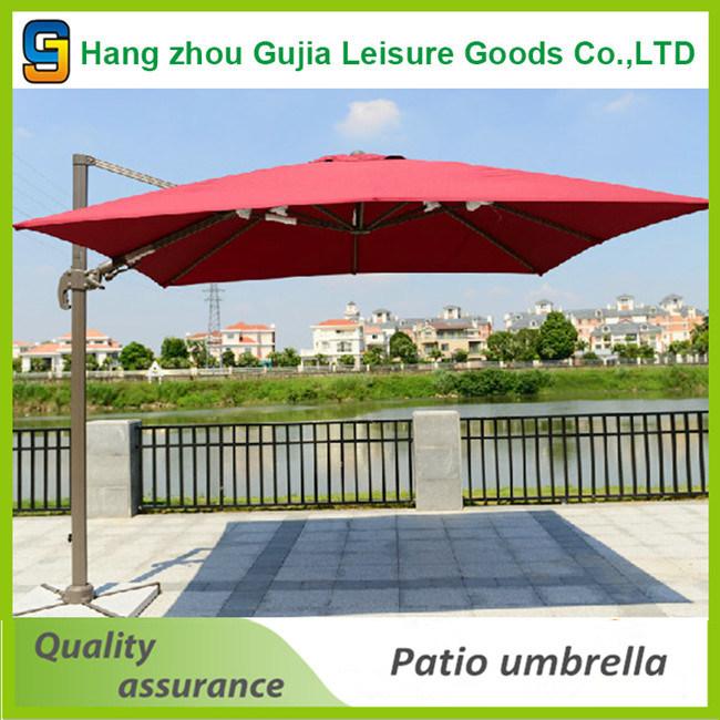 3m Cantilever Umbrella Market Garden Beach Outdoor Sunshade with Base