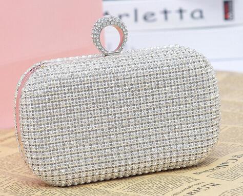 New Designer Handbag Luxury Full Diamond Evening Cultch Bag (XW717)