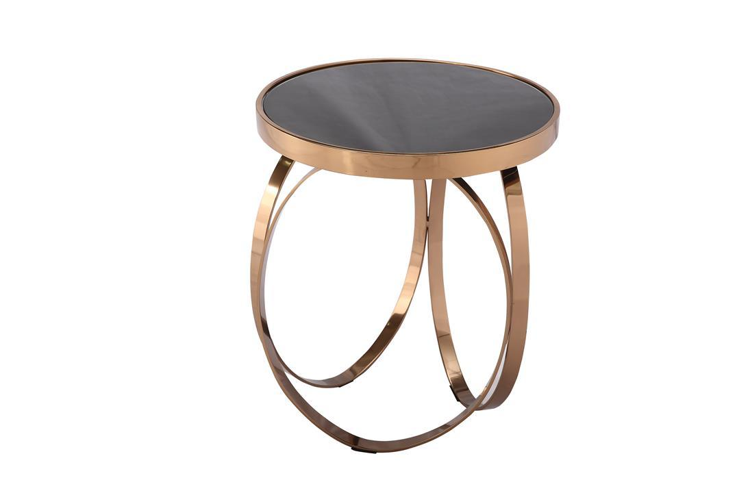 Modern Ss Coffee Tea Side End Table with Marble Top
