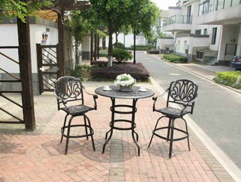 Practical Amalfi 3 Piece Bar Set Furniture for Outdoor