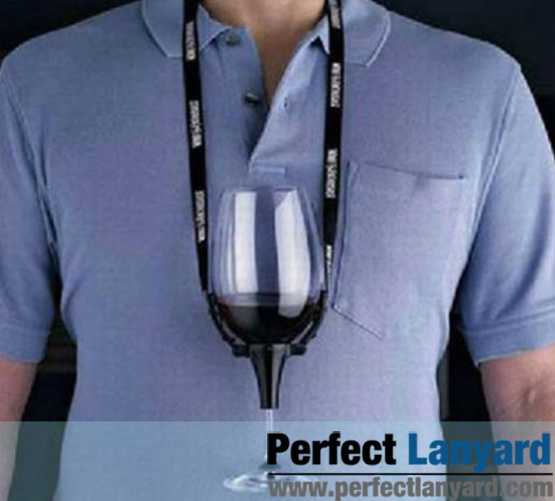 Promotional Wine Glass Holder Lanyard