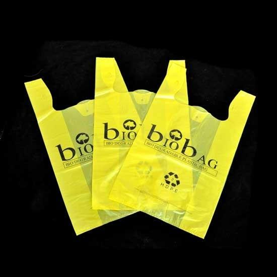 HDPE Plain Plastic Retail Shopping T-Shirt Bag