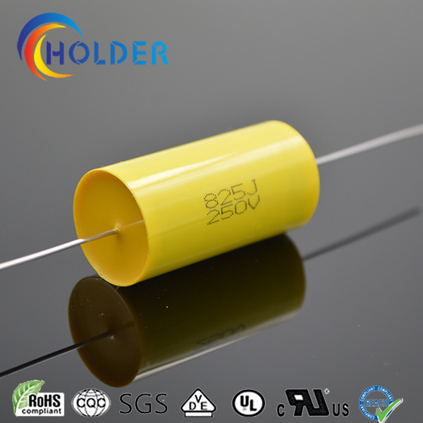 Axial Metallized Polypropylene Capacitor (Cbb20 825j/250V) with Copper Wire/250V/400V/630V/1000V/High Performance for Running