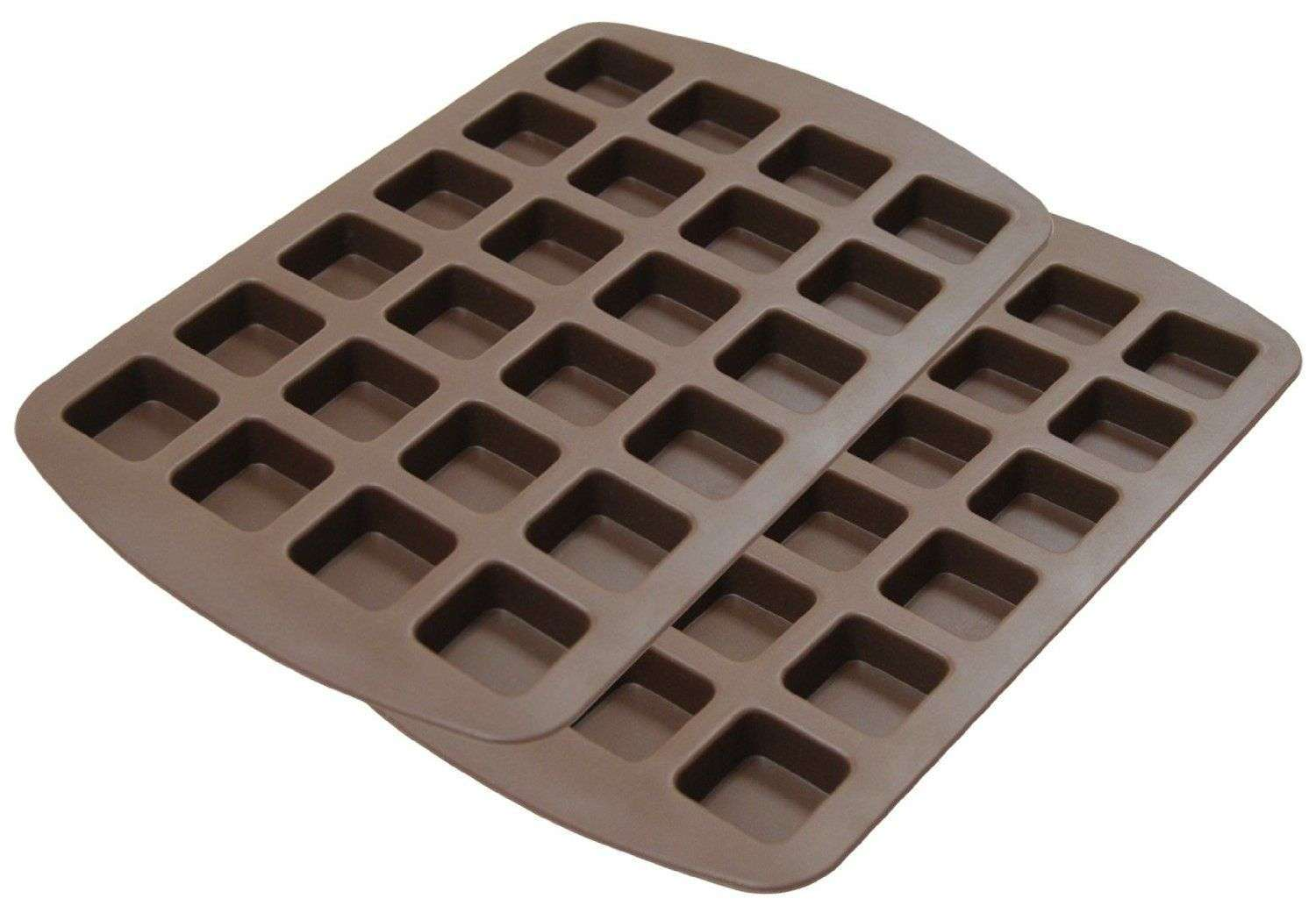 Cups 24-Cavity Silicone Chocolate Candy Mold Muffin