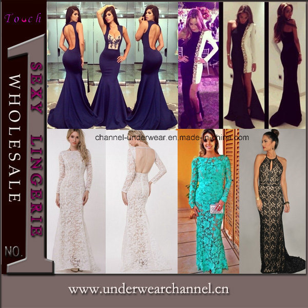 Fashion Bridal Party Cocktail Prom Gown Wedding Evening Dresses (TMKF134)
