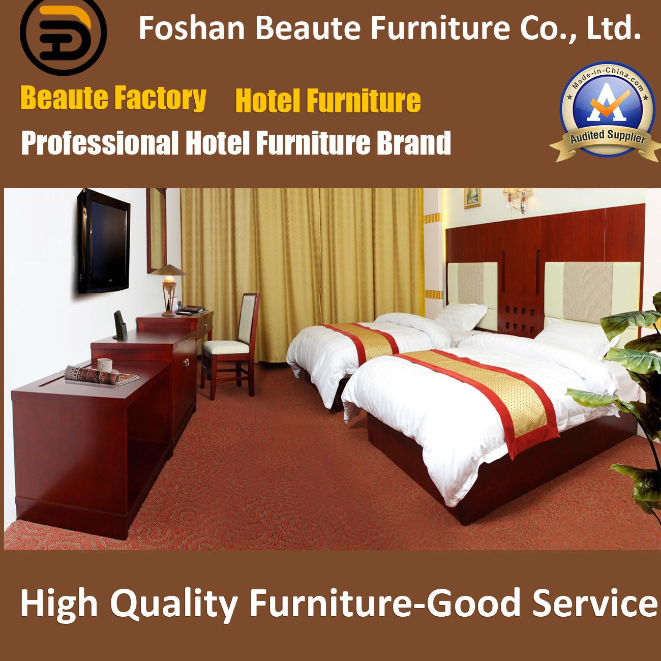 Hotel Furniture/Luxury Double Bedroom Furniture/Standard Hotel Double Bedroom Suite/Double Hospitality Guest Room Furniture (Glb-0109850