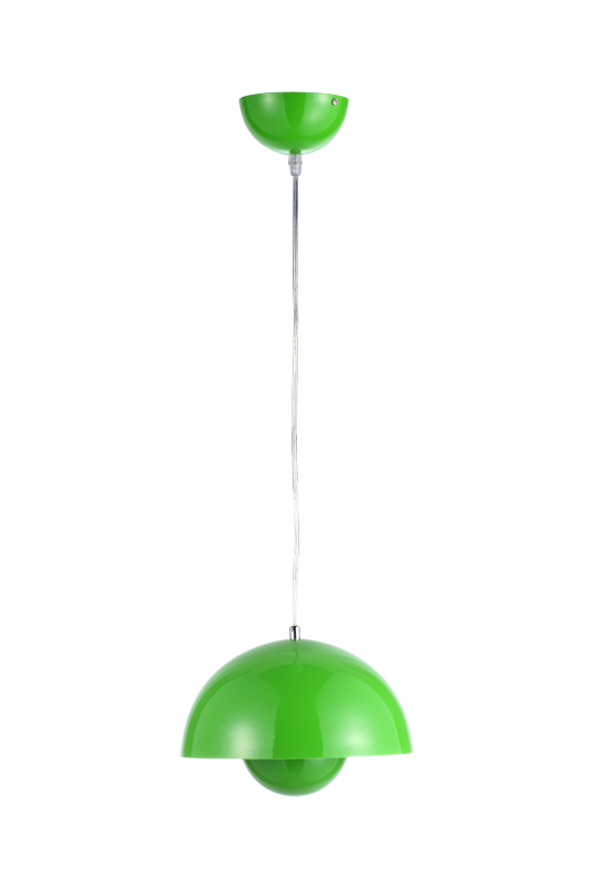 Green Steel Flower Pot Semi-Sphere Suspension Lamp