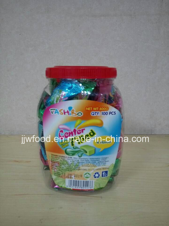 100PCS 18jar Packing Tashibo Center Filled Bubble Gum