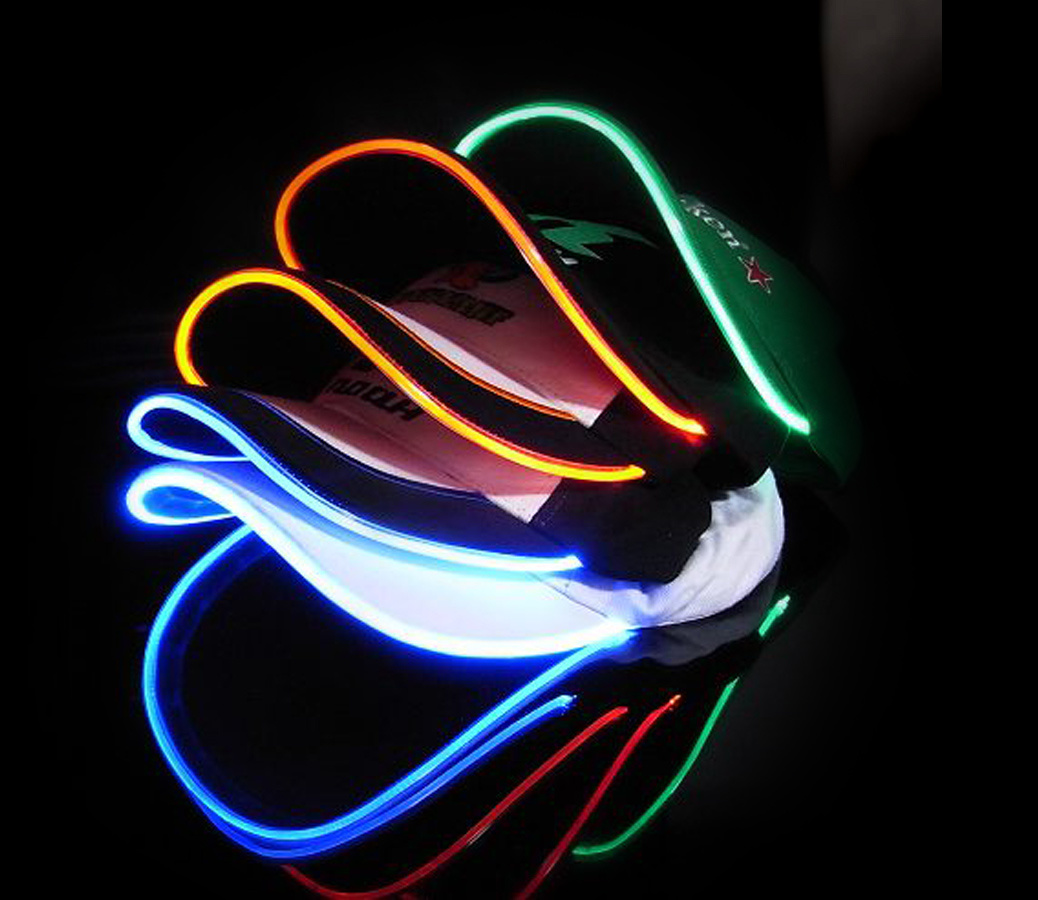 LED Flashing Sport Hat Glow in The Dark Cap