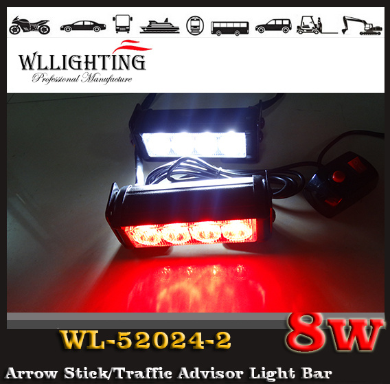 Police LED Warning Strobe Light Car LED Flashing Light for Front Grille LED Headlight Red Blue