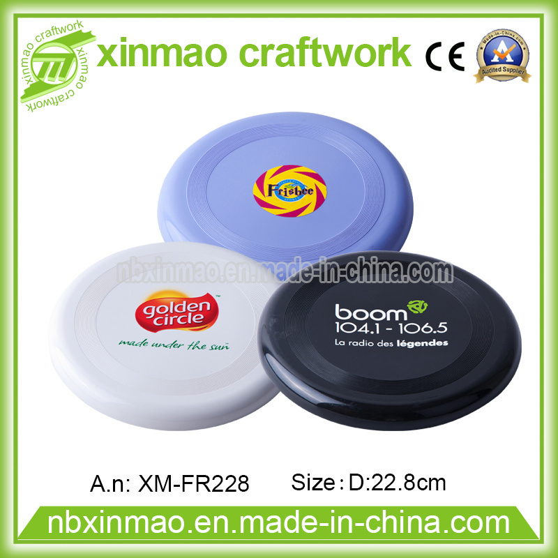 22.8cm Plastic Frisbee with Full Color Logo for Promo