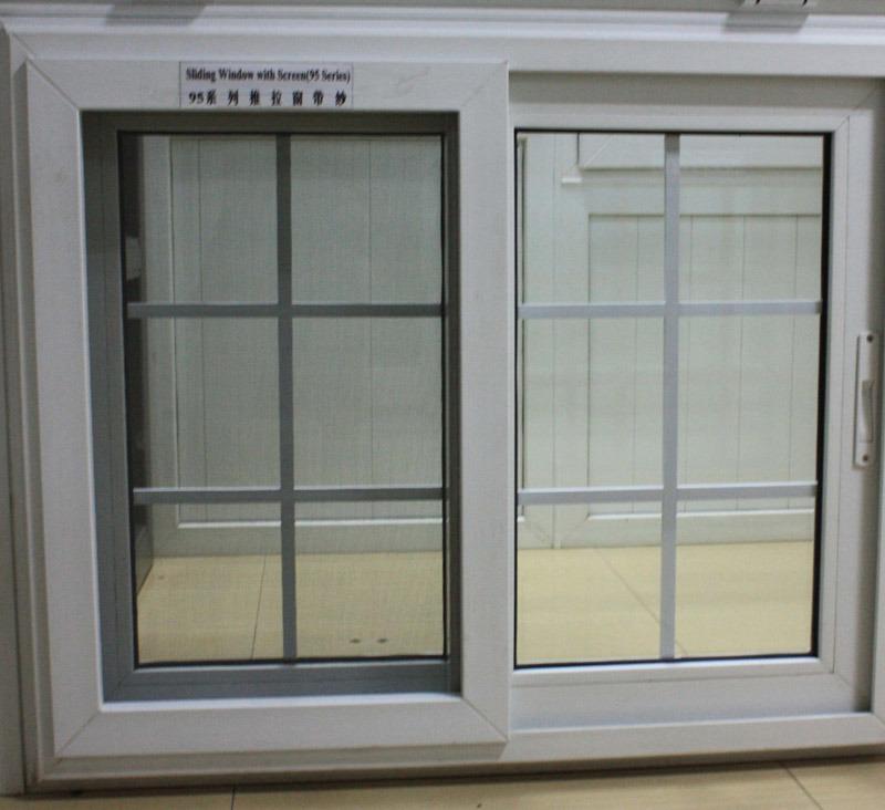 Good Qualitu Vinyl PVC Windows and Doors with Mosquito Net UPVC Sliding Window