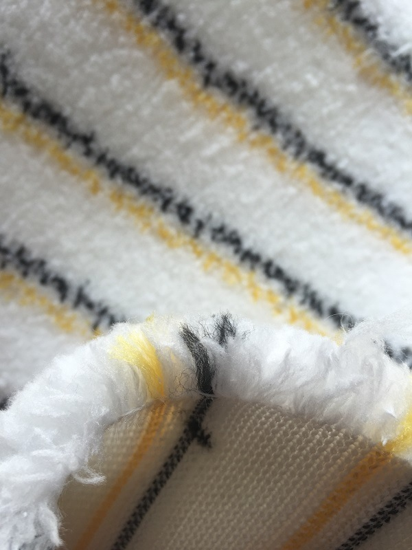 Yellow and Black Microfiber Paint Roller Fabric