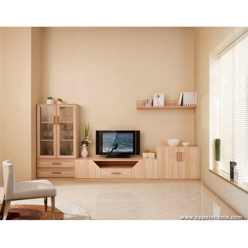 China oppein flat screen living room tv cabinets - Best size flat screen tv for living room ...