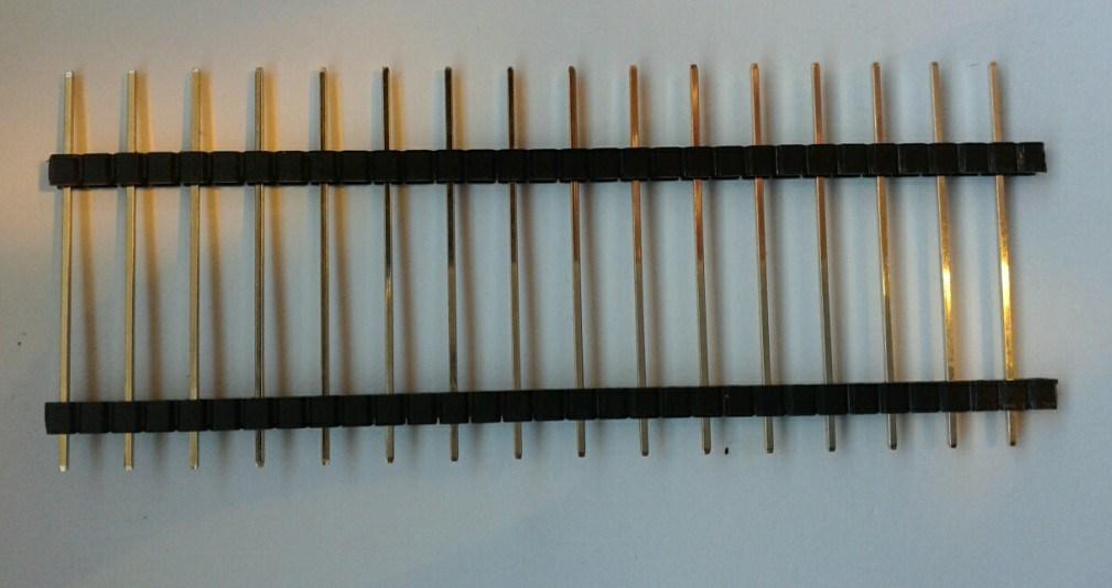 5.08mm Single Row Double Plastic Straight Type Pin Header