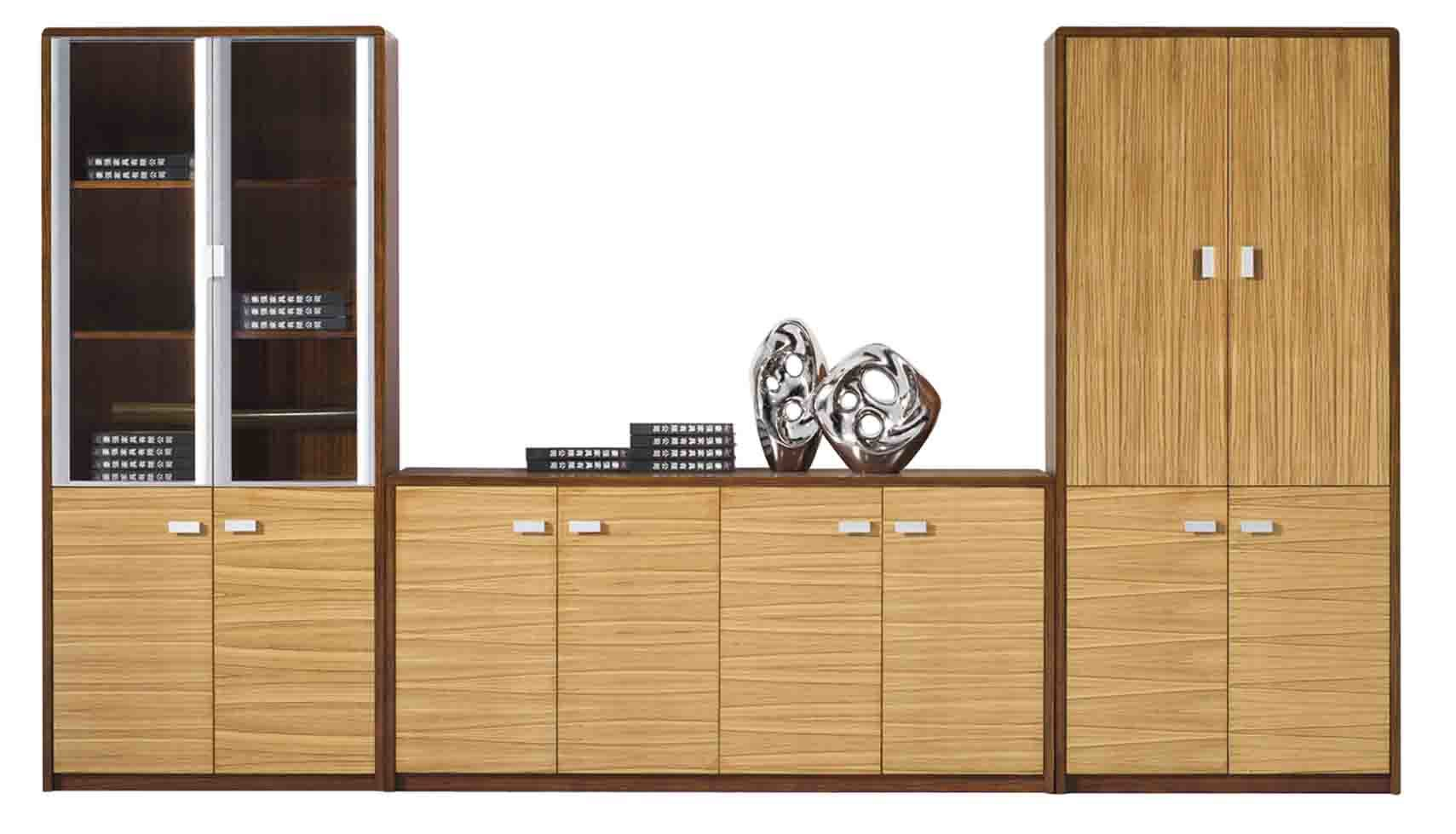 Ford Executive Modern Desk with Filing Cabinets  Light