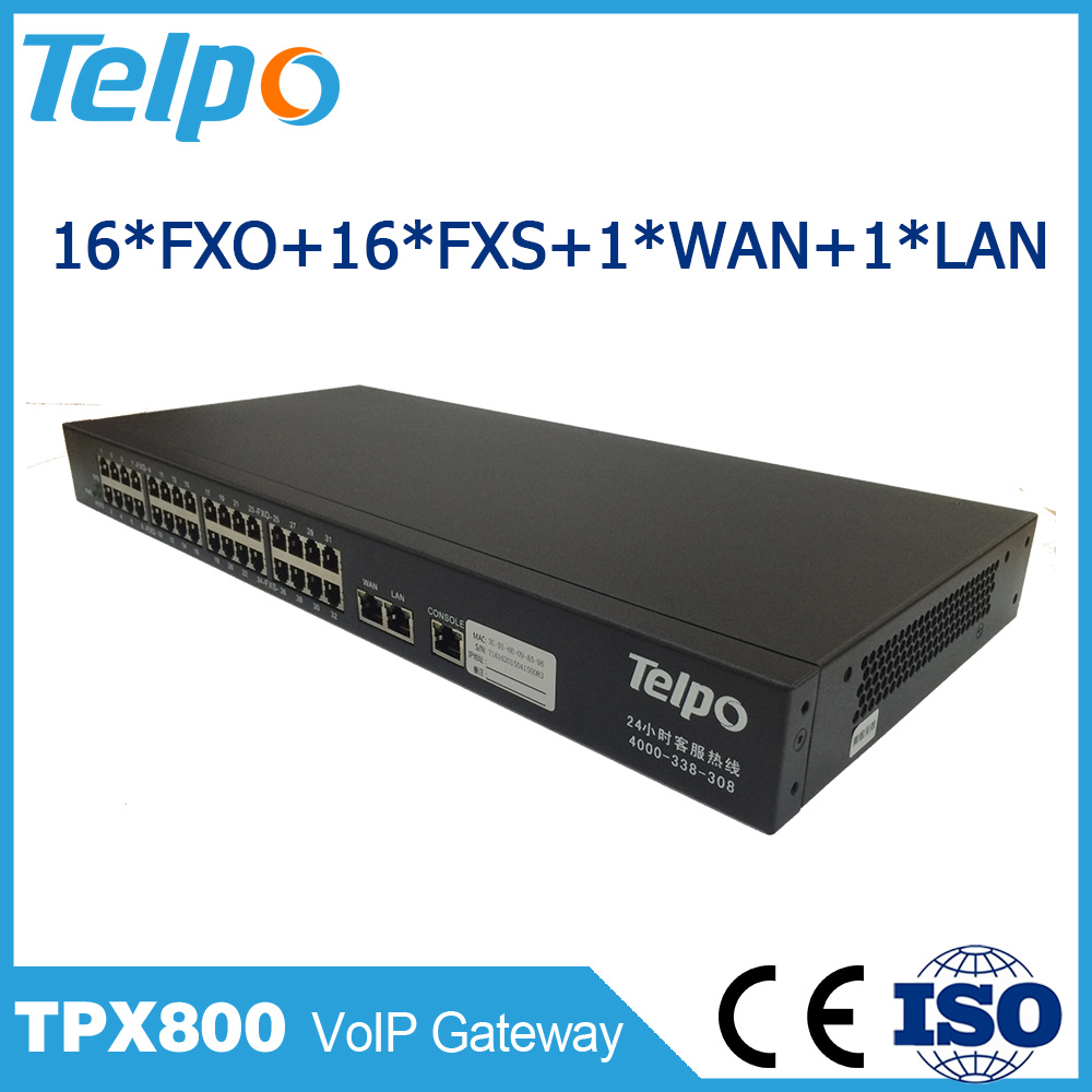 Manufacturer China High Quality FXS Port Call Center VoIP PBX