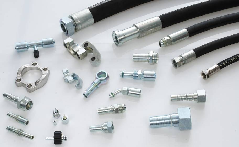 White Carbon Steel Material Hydraulic Hose Ends Fittings