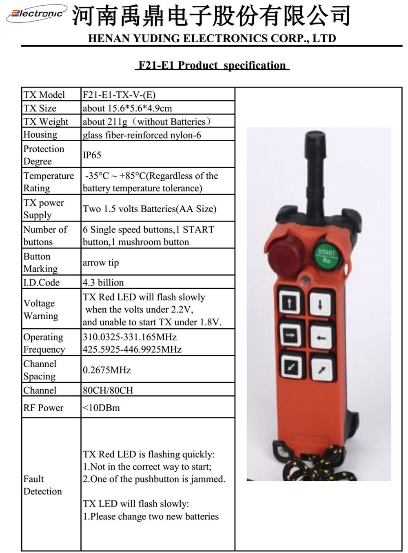 F21-E1 Industrial Radio Wireless Remote Control