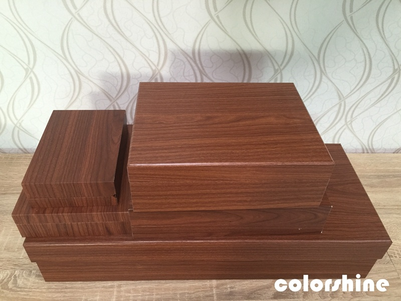 Classic Red Wooden Like Jewellery Packing Gift Box
