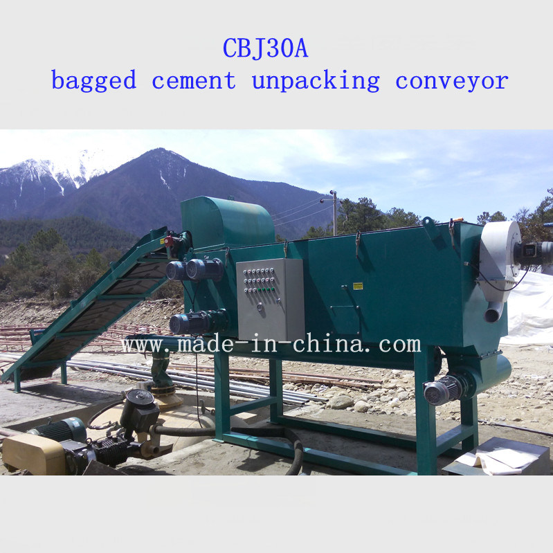 Cbj30A Bagged Cement Unpacking Conveyor (with WG5 Pneumatic Cement Feeder)