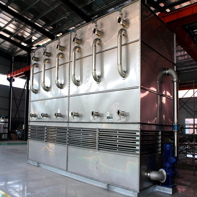 Countercurrent Evaporative Cooler for Industrial