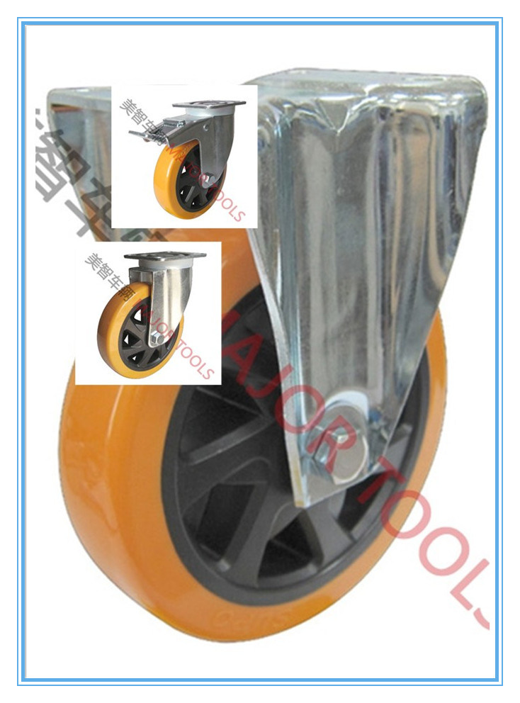 Retractable Swivel PU Industrial Caster Wheels/Universal Casters