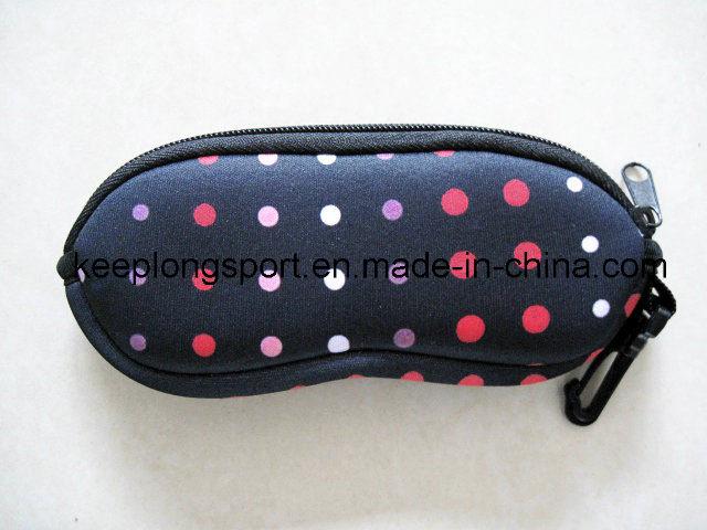 Silk Screen Printing Logo Neoprene Glasses Pouch