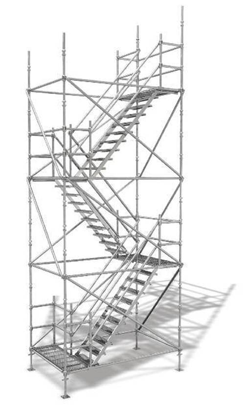 Scaffold Stair Tower : China cuplock scaffolding system leg staircase tower