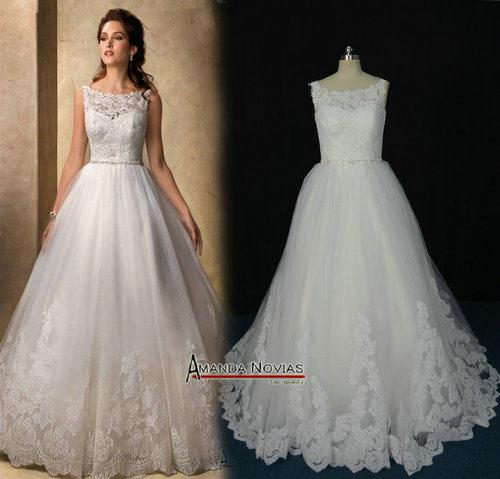 china amazing designer puffy empire waist lace wedding