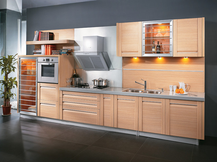 Kitchen Furniture, Modular Kitchen Cabinet, UV Paint Chinese Style Customize Kitchen Cabinet