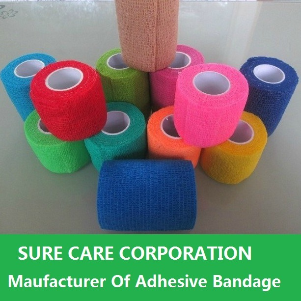 Various Colors Medical Cohesive Bandage Self Adhesive Bandage (SC-EAB001)