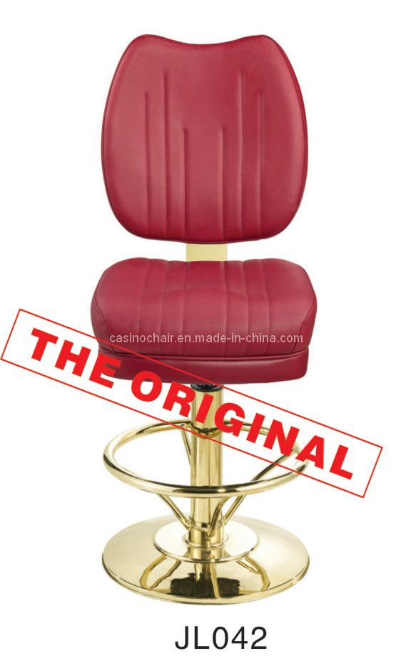 Gambling Stool Red Color Chrome Footrest (Jl045)